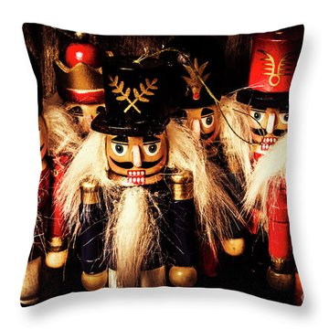 Army Of Wooden Soldiers Throw Pillow