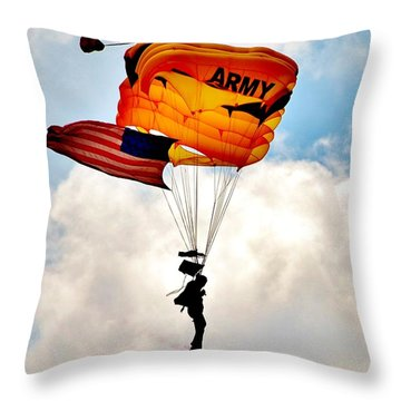 Army Paratrooper 2 Throw Pillow