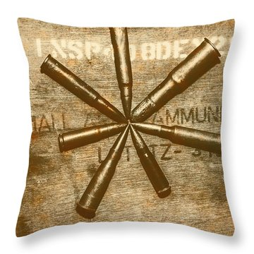 Army Star Bullets Throw Pillow