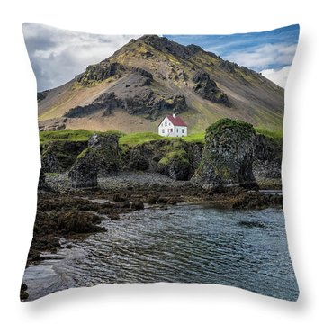 Arnarstapi House Throw Pillow