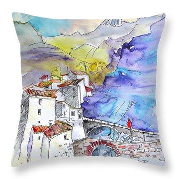 Arnedillo In La Rioja Spain 02 Throw Pillow by Miki De Goodaboom