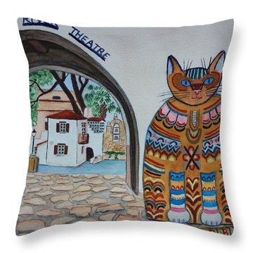Arneson Theatre Cat Throw Pillow