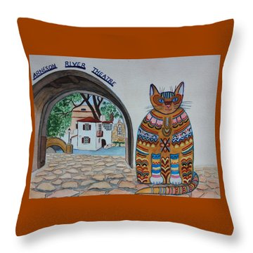 Arneson Theatre Cat Throw Pillow