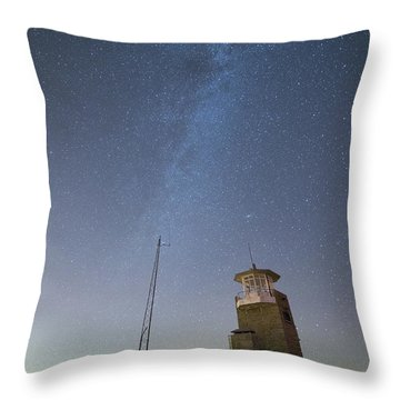 Throw Pillow featuring the photograph Arouca And The Milky Way by Bruno Rosa