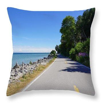 Around Mackinac Island Throw Pillow