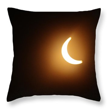 Around Peak Time Eclipse Throw Pillow