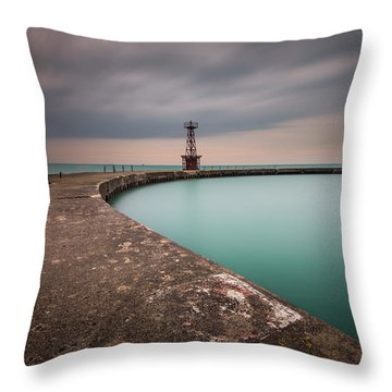 Around The Aqua Throw Pillow