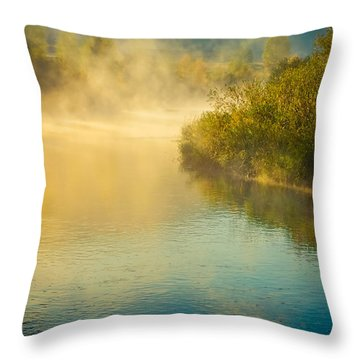 Throw Pillow featuring the photograph Around The Bend by Don Schwartz