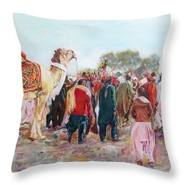 Around The Music Party Throw Pillow