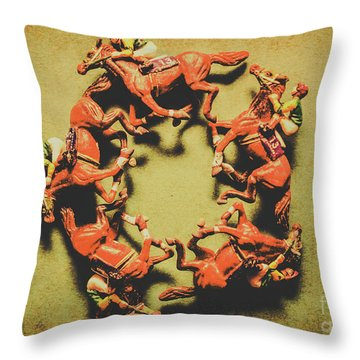 Around The Racetrack Throw Pillow