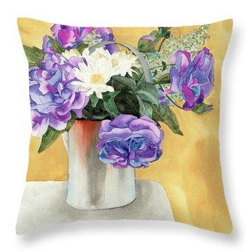 Arrangement Throw Pillow by Ken Powers