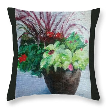 Arrangement Throw Pillow