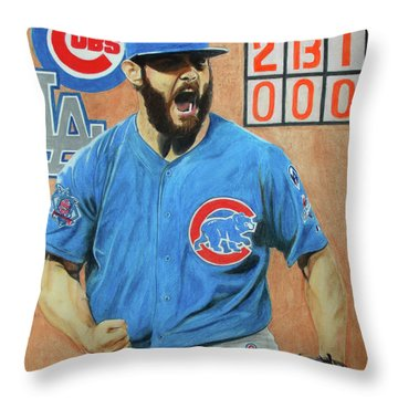 Arrieta No Hitter - Vol. 1 Throw Pillow