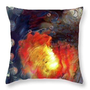 Throw Pillow featuring the digital art Arrival by Linda Sannuti