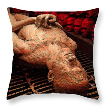 Arrival Of The Damned Throw Pillow