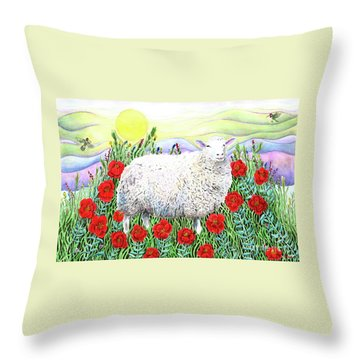 Arrival Of The Hummingbirds Throw Pillow