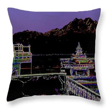 Arrival Throw Pillow by Tim Allen