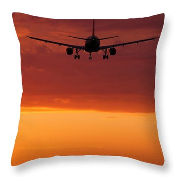 Arriving At Day's End Throw Pillow