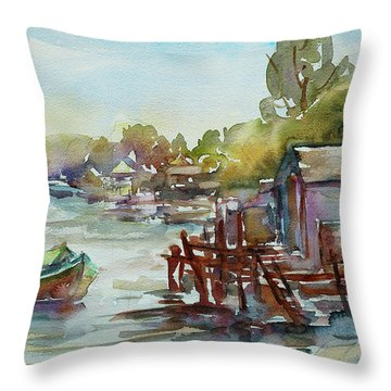 Arriving Throw Pillow by Xueling Zou