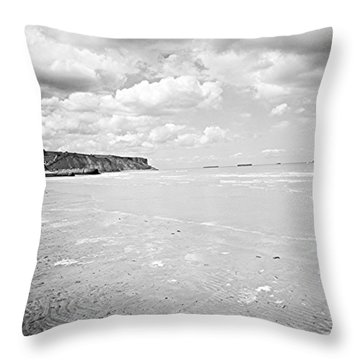 Arromanches-les-bain Throw Pillow