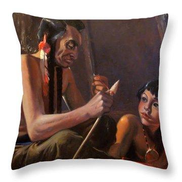 Arrow Maker Throw Pillow