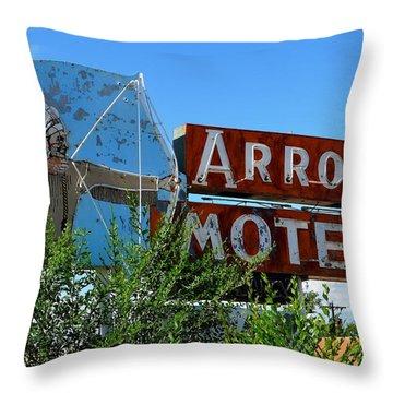 Arrow Motel Throw Pillow