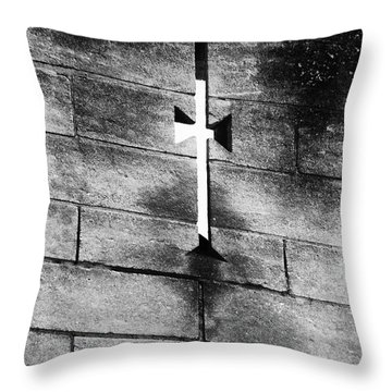 Arrow Slit Throw Pillow