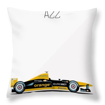 Arrows Asiatech A22 F1 Poster Throw Pillow