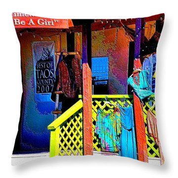 Arroyo Seco Store Throw Pillow