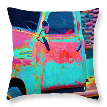 Arroyo Seco Truck 1 Throw Pillow