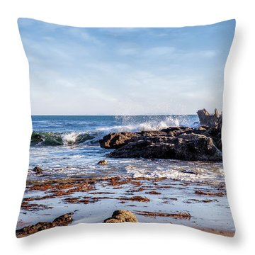 Arroyo Sequit Creek Surf Riders Throw Pillow