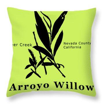 Arroyo Willow - Black Text Throw Pillow