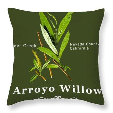 Arroyo Willow - Color Throw Pillow