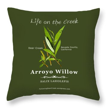 Arroyo Willow - Color Throw Pillow
