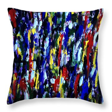 Art Abstract Painting Modern Color Throw Pillow