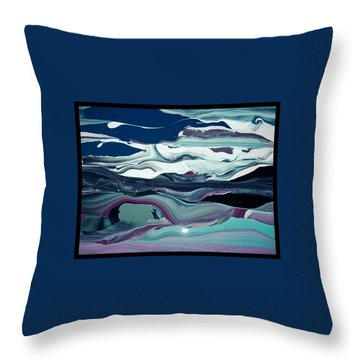 Throw Pillow featuring the painting Art Abstract by Sheila Mcdonald