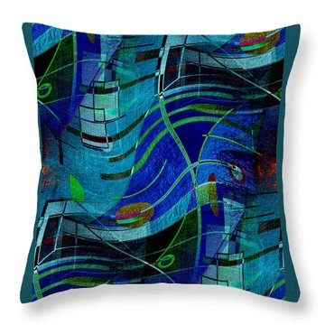 Throw Pillow featuring the digital art Art Abstract With Culture by Sheila Mcdonald