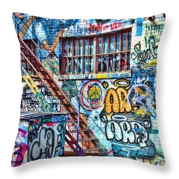 Art Alley 2 Throw Pillow