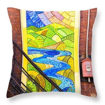 Art And The Fire Escape Throw Pillow by Tom Singleton