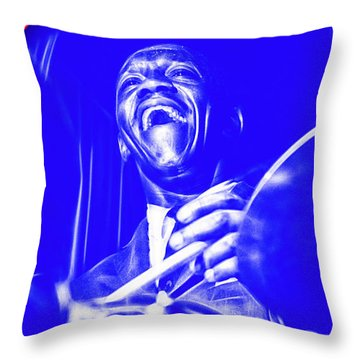 Art Blakey Collection Throw Pillow by Marvin Blaine