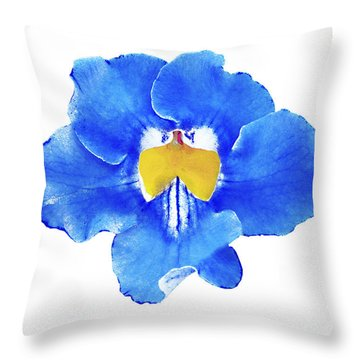 Art Blue Beauty Throw Pillow