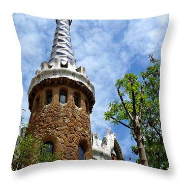 Art Building Throw Pillow