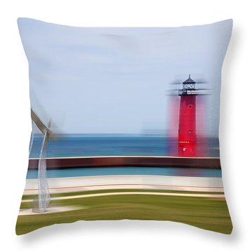 Art By The Lake Shore Throw Pillow