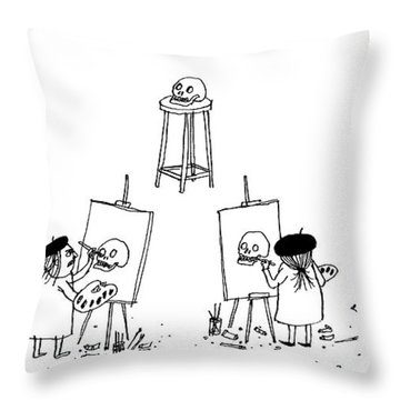 Art Class Throw Pillow