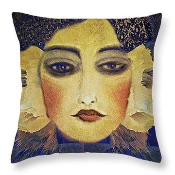 Throw Pillow featuring the digital art Art Deco  Beauty by Alexis Rotella