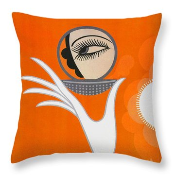 Art Deco Fashion Illustration Throw Pillow