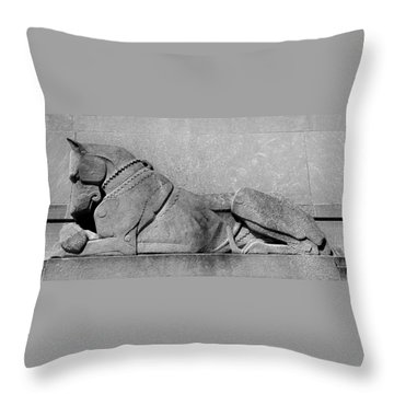 Art Deco Great Dane Throw Pillow