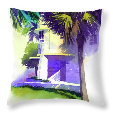Art Deco Hotel Miami Throw Pillow
