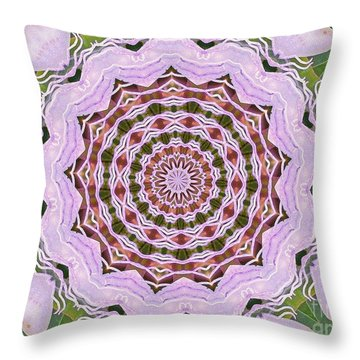 Throw Pillow featuring the photograph Art Deco Pink Floral by Shirley Moravec