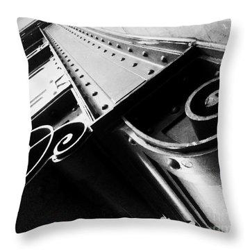Art Deco Steel Throw Pillow